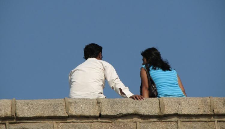 A couple at Marine Drive