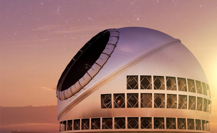 Thirty Meter Telescope Sunset View Illustration