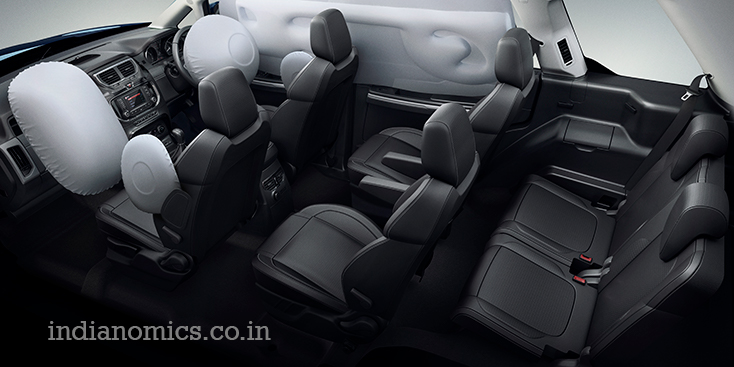 TATA HEXA has 6 air bags for beefed up safety