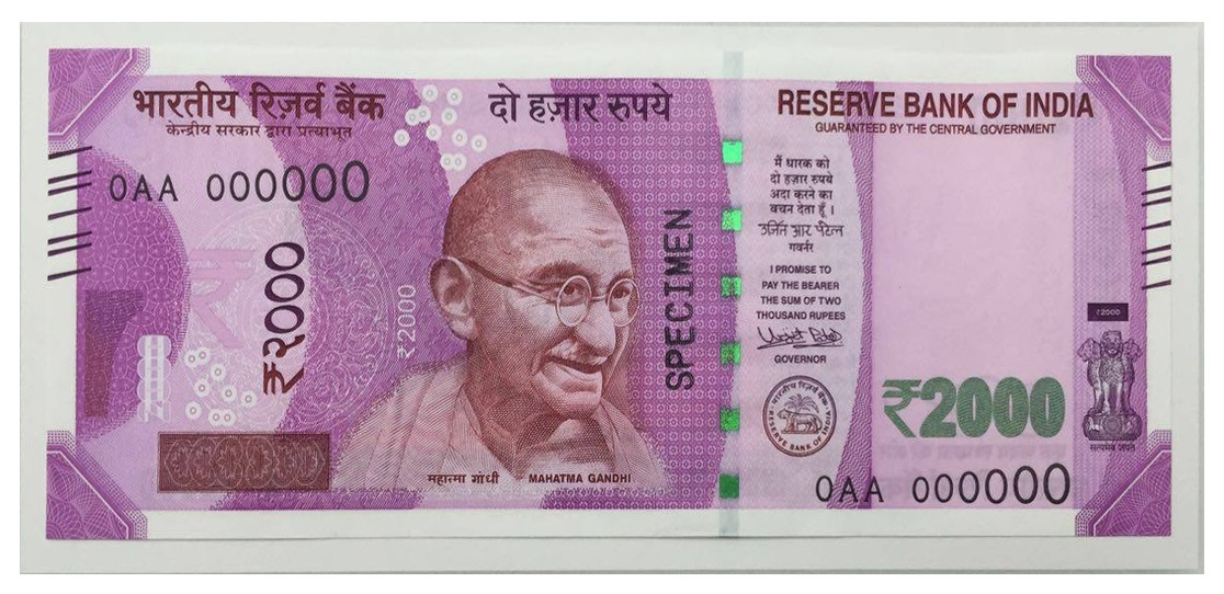 New 2000 Indian rupee note