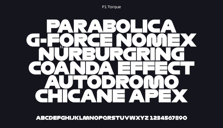 F1 typography Torque - Image from https://www.creativereview.co.uk