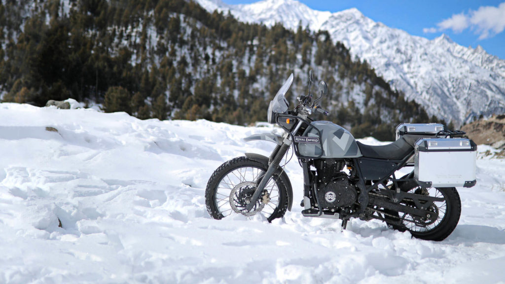 The Limited edition Royal Enfield Himalayan looks classy in its natural surroundings.
