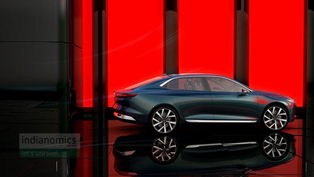 Tata Motors eVision Concept Sedan Car Exterior
