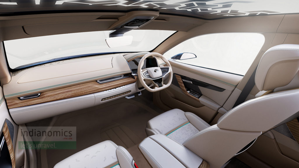 Tata Motors eVision Concept Sedan Car - Interiors