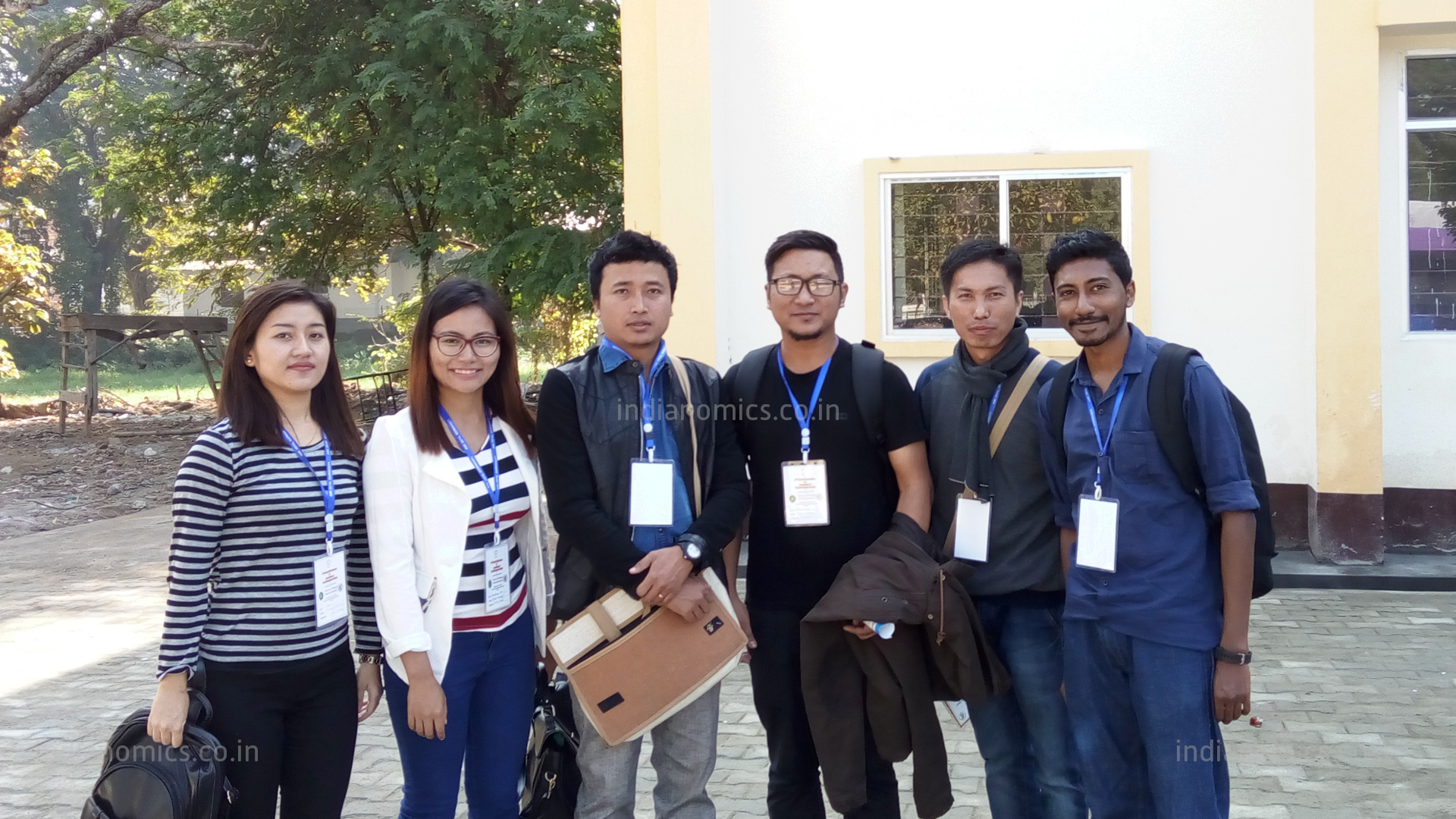 Vincent with his colleagues, University of Mizoram