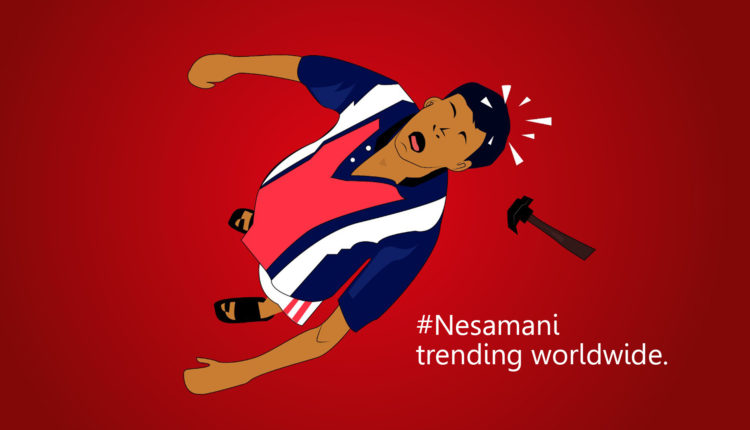 Contractor Nesamani is a character from Tamil Movie Friends released in 2001