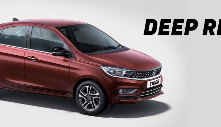 Tata Tigor 2020 Colors - Deep Red