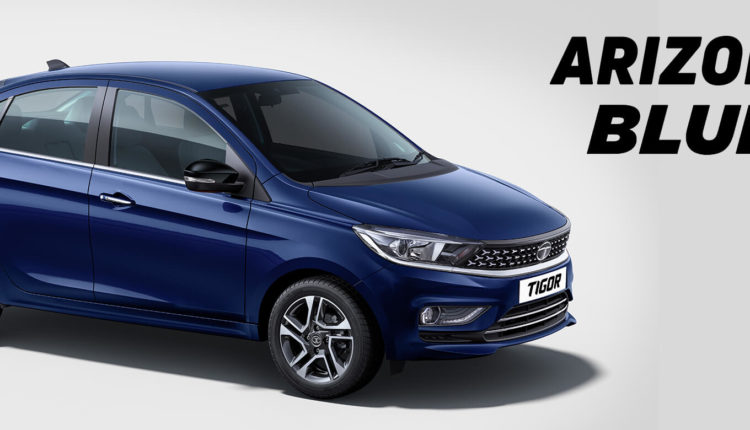 Tata Tigor 2020 Colors - Arizona Blue