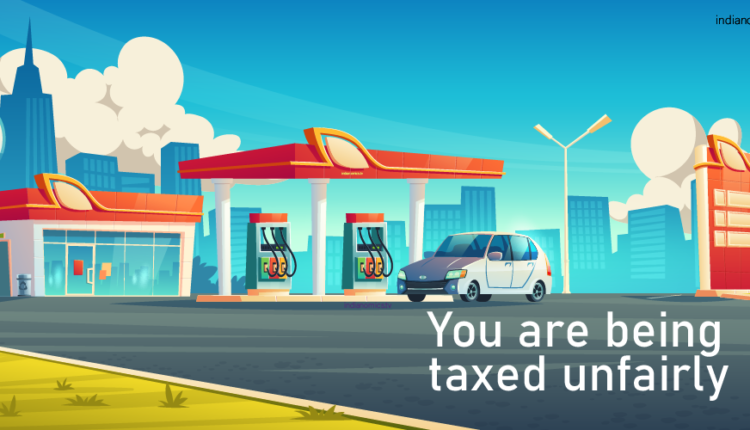 You are being taxed unfairly – A unmanned car at petrol pump
